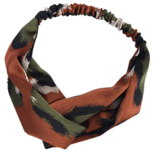 PPWOMEN Haarschmuck - Damen Leopardenmuster einfache Mode Stirnband Haarband Stoff Stirnband (Kaffee, Eine Größe)