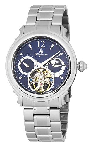 Burgmeister BM345-131 - Reloj de pulsera hombre, acero inoxidable, color Plata