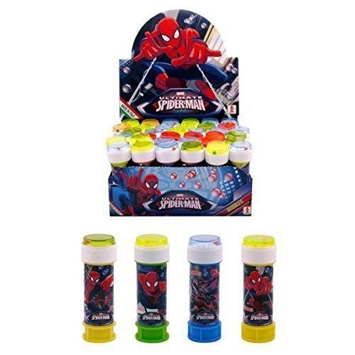 Fancy Me Boîte de 36 ou 6 Garçons Enfants Super-héros Spiderman Bulles Pochette Surprise Pour Fête Cadeaux Jouet Jeux - 6 Pots
