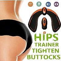 LANGSTAR Appareil de Fesse, Intelligent Hips Trainer EMS Ceinture Massage Musculaire Fessier Electrostimulateur avec Télécommande Rechargeable pour Gym Maison Burea Femmes Hommes