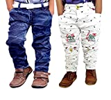 Ad & Av Boys' Jean (Combowhitejeans32Ee_White&Jeans_7-8 Years)