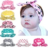 Bebe bebe Hairband Headwear, tocado de tela elastica orejas de conejo