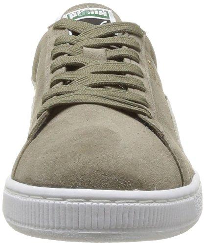 Puma Suede Classic Sneakers Herrenschuhe Khaki (Rock-White)