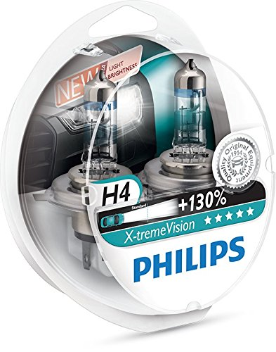 Philips 12342XV+S2 H4 X-Treme Vision +130%, Headlight Car Bulbs (Twin-Pack)