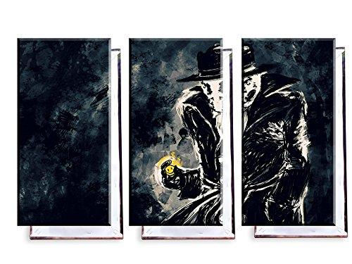 (Rorschach Watchmen - Dreiteiler (120x80 cm) - Bilder & Kunstdrucke fertig auf Leinwand aufgespannt und in erstklassiger Druckqualität)