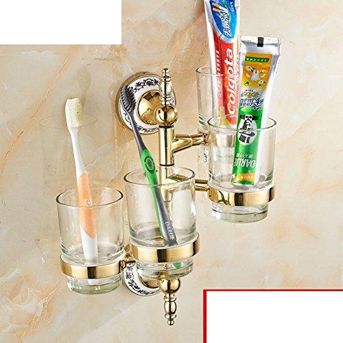 porte-gobelet de brosse à dents Continental/ Golden Soseki/ Verre porte-gobelet rotatif/Bleu et blanc porte-gobelet en porcelaine Salle de bains Activités-E
