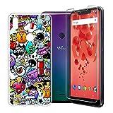 KJYF Hülle für WikoView2Plus, Schutzhülle Bumper Cover TPU + Schutzfolie Film Silikon Schale Ultra Dünn Case Handyhülle Cover - XS40