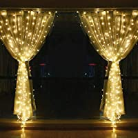 String lights for Window Curtain, 3M 304 LED Fairy Twinkle Starry Decorative Light for Indoor Outdoor Wedding Christmas Home Bedroom Wall Party (Warm white)