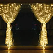 String lights for Window Curtain, 3M 304 LED Fairy Twinkle Starry Decorative Light for Indoor Outdoor Wedding