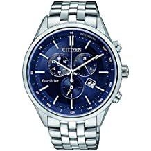 Citizen de hombre reloj de pulsera Cronógrafo Cuarzo Acero inoxidable at2141–52L
