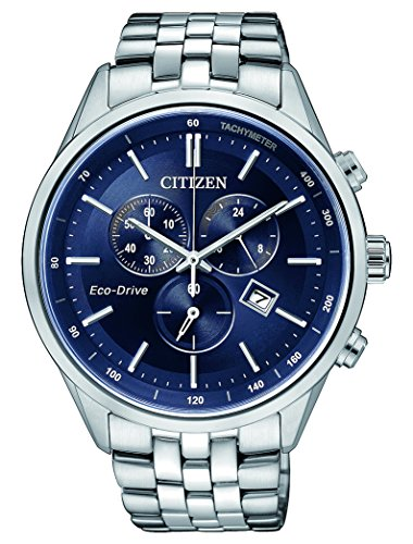Citizen Herren-Armbanduhr Chronograph Quarz Edelstahl AT2141-52L
