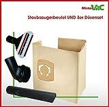 10x Staubsaugerbeutel + Düsenset geeignet BAIER Nass-Trockensauger 35l BSS 506