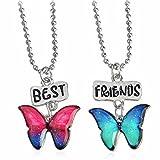 "Best Necklace Set Of 2 - El Regalo ""Best Friends"" Enamel Multi Coloured Butterfly Review"
