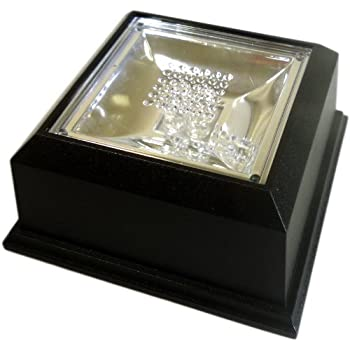 LED Display Stand for Crystal Ornaments - White