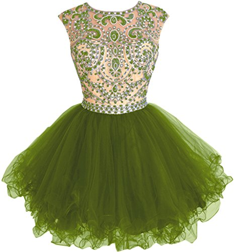 Missdressy -  Vestito  - Scollatura dietro - Donna Verde
