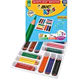BIC Kids Evolution Triangle ECOlutions Crayons de Couleurs Triangulaires - Couleurs Assorties, Classpack de 144
