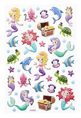 Hobbyfun Sticker-XL Meerjungfrau II, Bogen 14 x 21 cm (Scrapbooking Sticker Meerjungfrau)