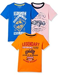 Sunday Sale : Flat 50% And More OFF On Cherokee Boys' Plain Combo T-Shirt (Pack of 3) low price image 4