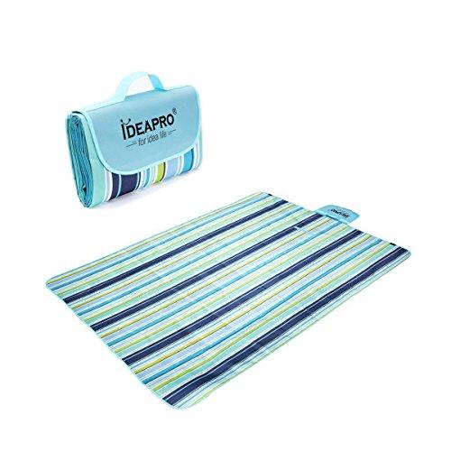 IDEAPRO impermeabile pieghevole da Picnic coperta Camping Spiaggia Mat 145 x 180 cm tappeto per attività all'aperto (blu)