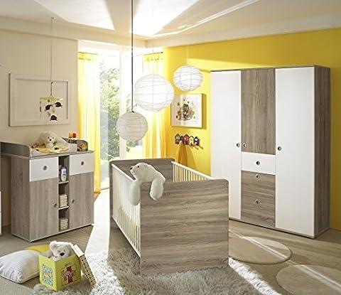 Babyzimmer Kinderzimmer komplett Set WIKI 6 in Eiche Sonoma /