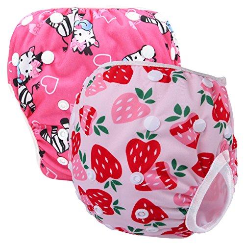 Storeofbaby Storeofbaby Baby Girls Swim Pañales lavable reutilizable