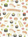 """Sketchbook: Sushi Anime: 120 Pages of 8.5"""" x 11"""" Blank Paper for Drawing, Sketching and Doodling (Anime Sketchbook)"""
