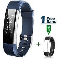 Mocrux Smart Fitness Tracker mit Herzfrequenzmesser Fitness Armband HR Fitness Tracker