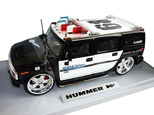 Hummer H2 H 2 Police Polizei Tuning 1/18 Jada Modellauto Modell Auto...