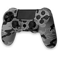 Custodia Silicone Case Cover Skin Controller Dualshock4 PS4/Slim/Pro Camouflage Gris Chiaro