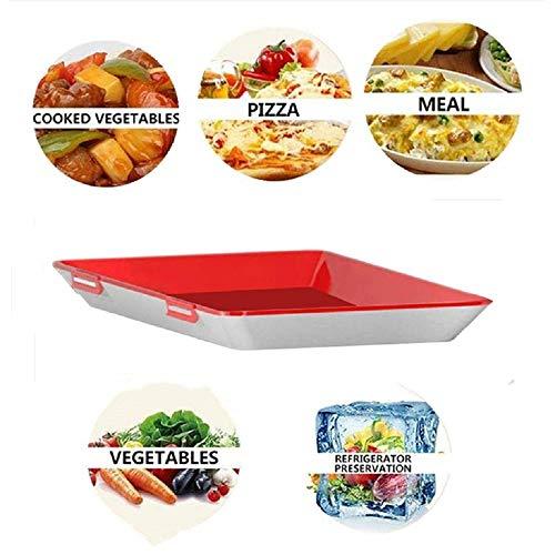 GHONLZIN Bandeja de Comida Fresca, Bandeja Fresca Contenedores Ambientales de Almacenamiento de Alimentos para la Preservación de la Frescura de los Alimentos