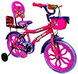 #6: Loop Bikes 16 Inches City 16 Pink Blue Bike Bicycle For 6 to 9 Years Unisex With Side Wheels