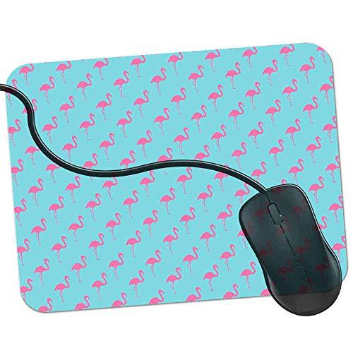 Gaming Mauspad Blaue Flamingo-Silhouette Fransenfreie Ränder spezielle Oberfläche verbessert Geschwindigkeit und Präzision rutschfest 2K109