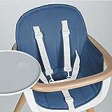 Micuna Ovo Sitzkissen Zubehör für Hochstuhl in Blau, für bequemes sitzen, verkleinert den Sitz, abwaschbar (ab 6 Monate)