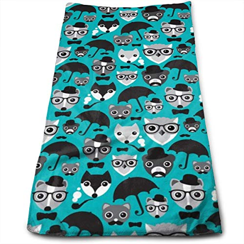 Kaixin J Hipter Fox Owl Bear and Skunk_13407 Microfiber Bath Towels,Soft, Super Absorbent and Fast Drying, Antibacterial, Use for Sports, Travel, Fitness, Yoga 12 * 27.5 Inch (Skunk Skins)