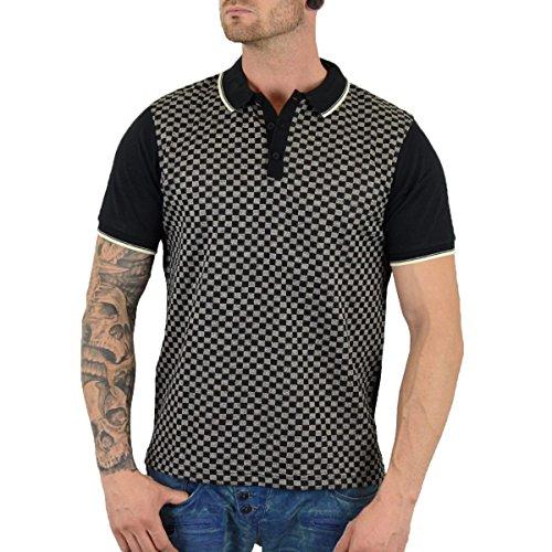 Merc London Herren Polo Shirt Woking schwarz - weit geschnitten Schwarz