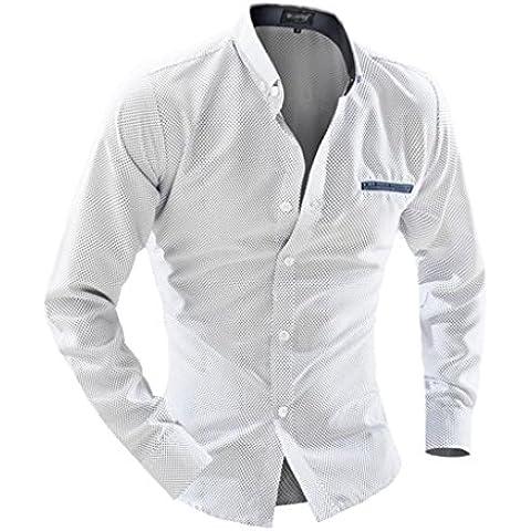 Tops Maglietta Clode® Casual Camicia a Maniche Lunghe Stampa di Puntini Maschile