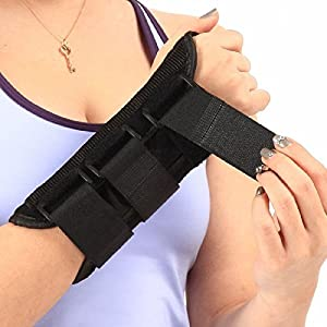 LOKSER Wrist Support Brace - Comfortable and Durable Thumb and Finger Hand Wrap for Men or Women with Sprains, Carpal Tunnel Syndrome & Muscle Strain - Relieves Pain & Better Sleep