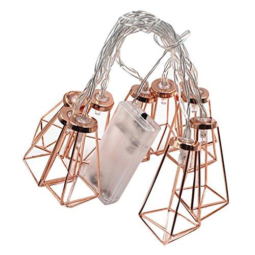 LoveLeiter 1.8m Weihnachtsaußensonnen-Kupferdraht-kugelförmige Birnen-Suspendierungs-Lampe LED Mit 10 LED-Perlen(B)