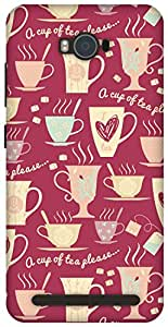 The Racoon Lean Pink Cup of Tea hard plastic printed back case / cover for Asus Zenfone Max ZC550KL
