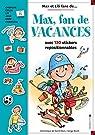 Max, fan de vacances - Livre stickers par Saint-Mars
