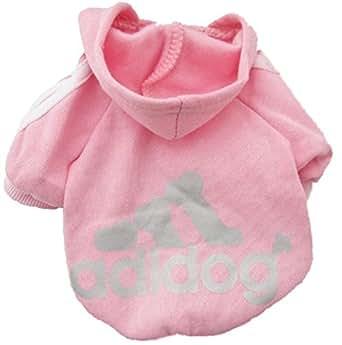 Demarkt Fashion Sport Vêtements/ Veste/ Capuche/ Manteau pour Petit Chien et Chiot - Couleur Pink (Beaucoup de Couleurs Disponibles) (M)