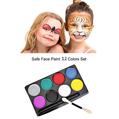 OYGIRL Fashion Flash Tattoo Face Body Paint Water Art Oil Paint Non-Toxic Paint Oil Painting Halloween Party Makeup Face Set