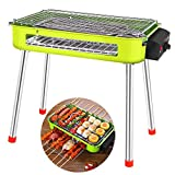 ZLJWRQY SK Grill électrique avec Thermostat, Table de Barbecue Pliable à Charbon