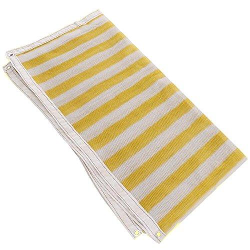 DUO Voiles d'ombrage 90% Sun Mesh Shade Sunblock Shade UV Résistant Net Pour Jardin Fleur Plante Jaune Blanc (Couleur : Le jaune, taille : 2×3M)
