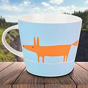 Scion Mug Motif renard Bleu clair/orange