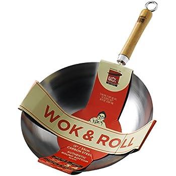 wok pfanne rund wokpfanne gastronomie runder boden 35cm nur f r gasherde k che. Black Bedroom Furniture Sets. Home Design Ideas