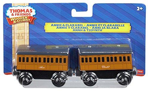 Thomas & Friends Wooden Railway Annie and Clarabel Engine Set