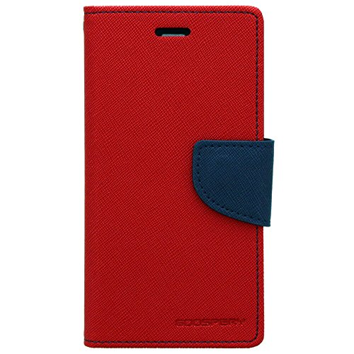 Cubezap Mercury Goospery Fancy Diary Card Wallet Flip Case Back Cover for Xiaomi Xiomi Redmi Note 4 4G - Red Blue