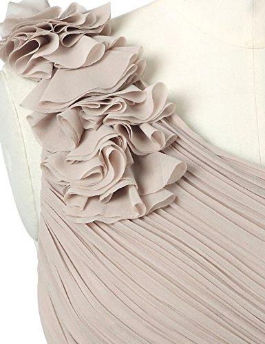 Ever Pretty Robe de Soirée avec une épaule en fleur de volant 08237 Beige