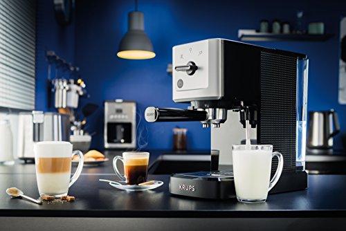 Krups XP344040 Calvi Manual Espresso Steam and Pump Coffee Machine, 1500 W, Black